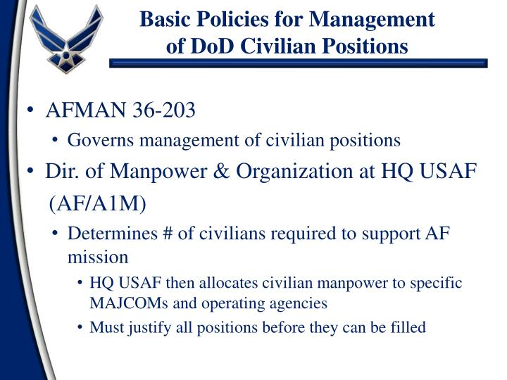 Basic Policies for Management
