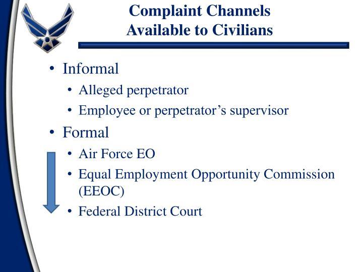 Complaint Channels