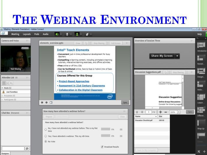 The Webinar Environment