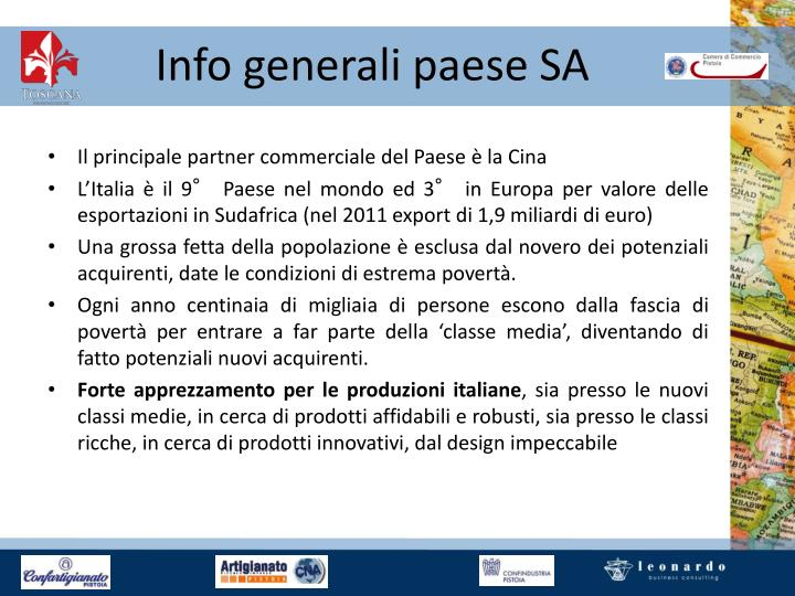 Info generali paese SA