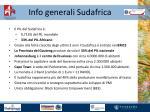 info generali sudafrica