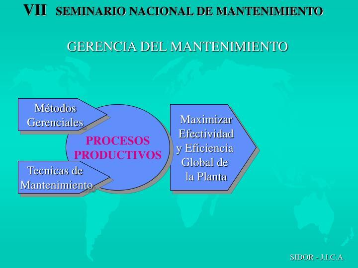 GERENCIA DEL MANTENIMIENTO