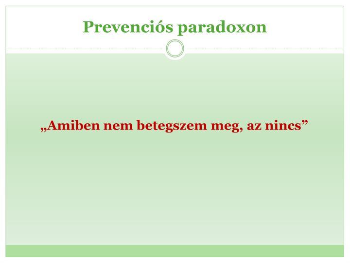 Prevenciós paradoxon