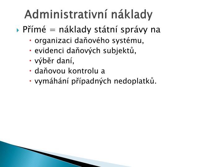 Administrativní náklady