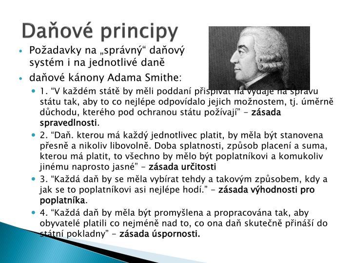 Daňové principy
