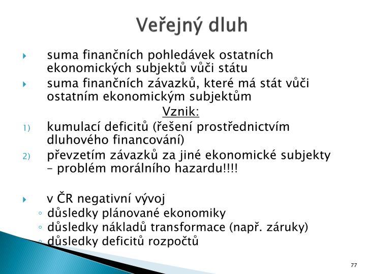 Veřejný dluh