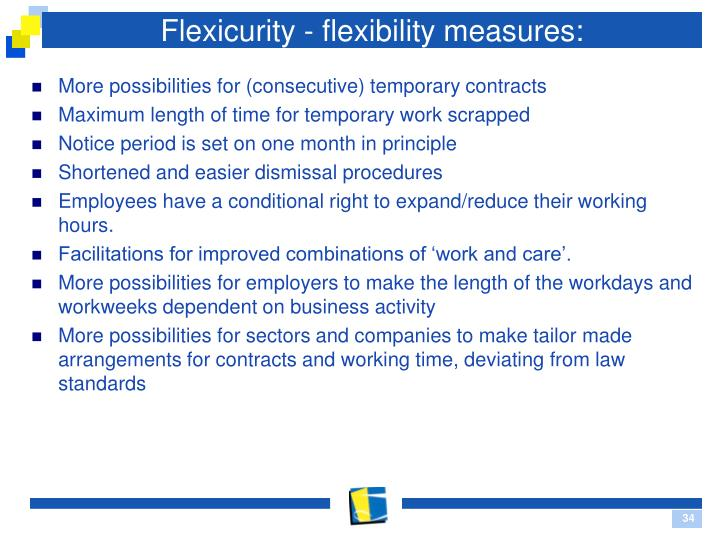 Flexicurity - flexibility measures:
