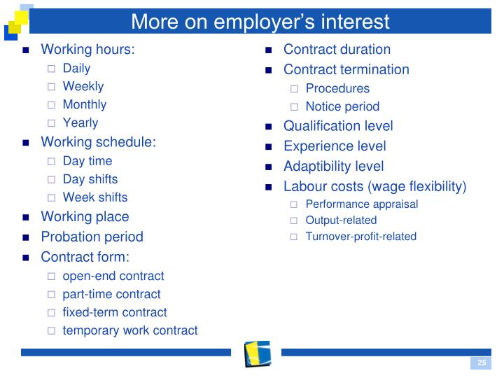 More on employer's interest