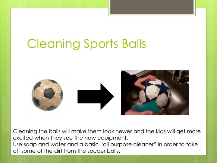 Cleaning Sports Balls
