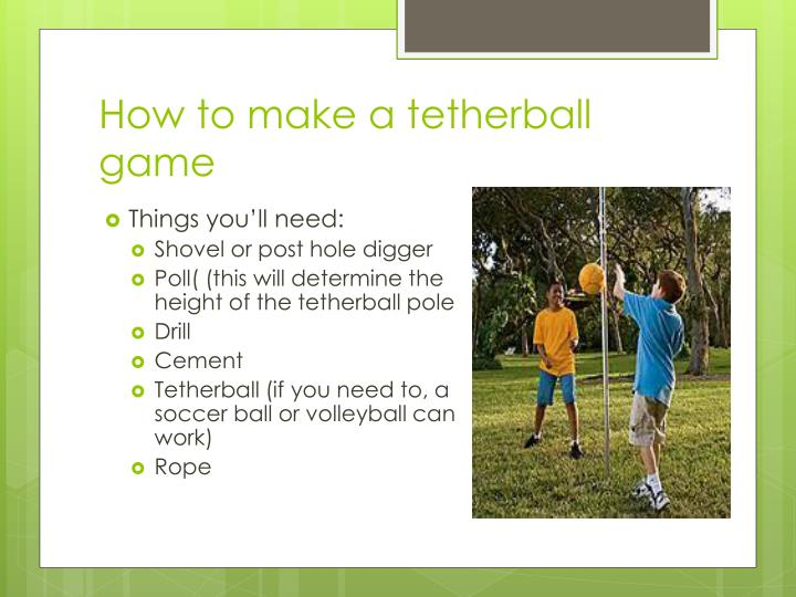 How to make a tetherball game