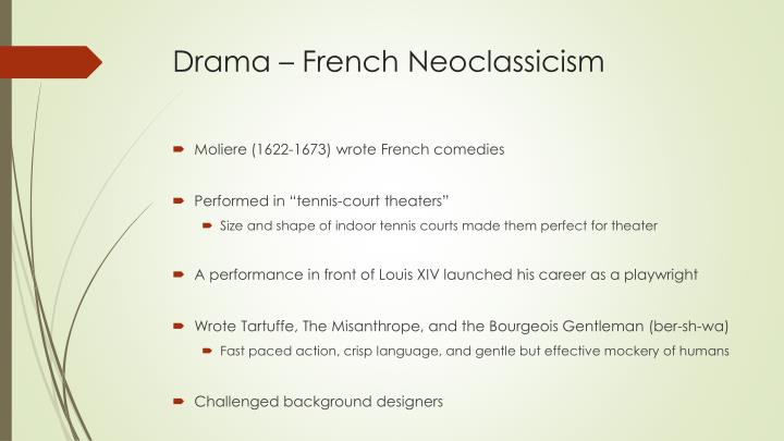 Drama – French Neoclassicism