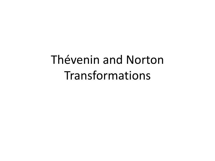Thévenin