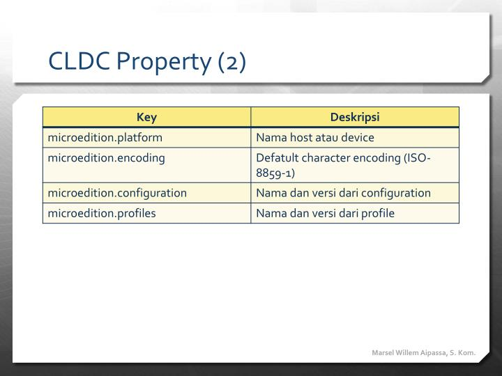 CLDC Property (2)
