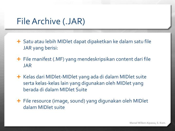 File Archive (.JAR)