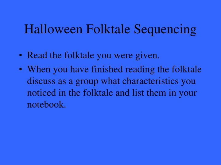Halloween Folktale Sequencing