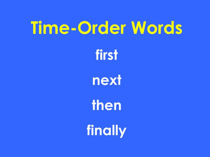 Time-Order Words