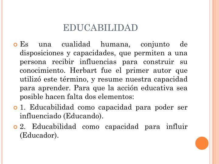 EDUCABILIDAD