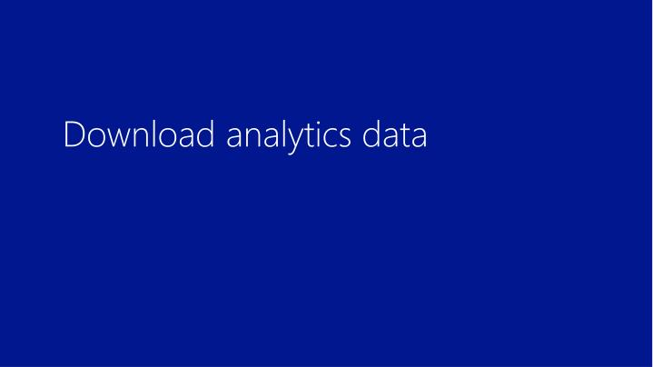Download analytics data