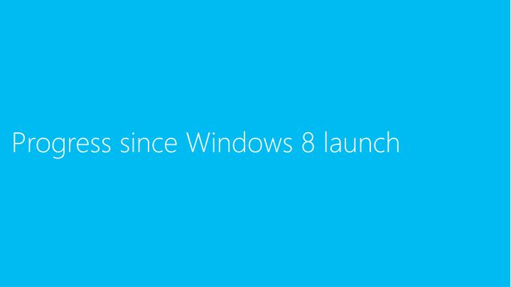 Progress since Windows 8 launch
