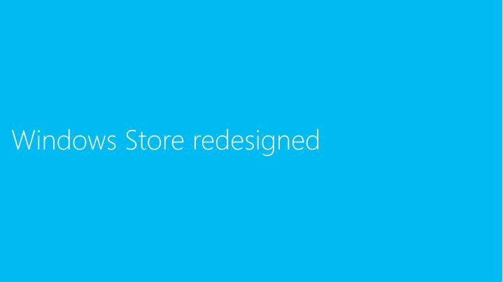 Windows Store redesigned