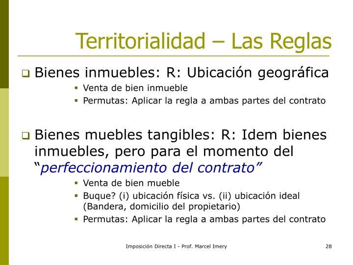 Territorialidad – Las Reglas