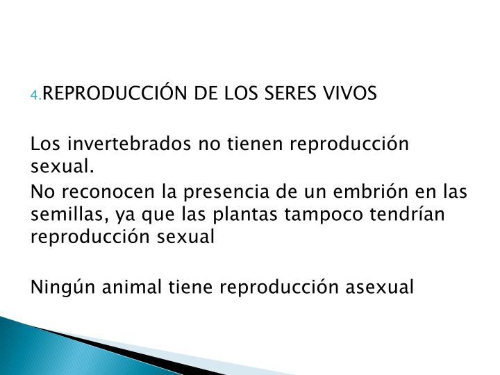 REPRODUCCIÓN DE LOS SERES VIVOS