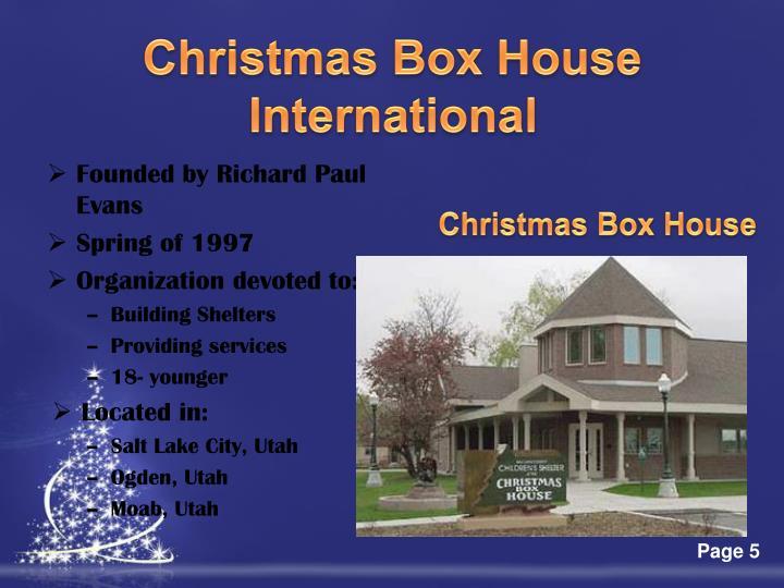 Christmas Box House International