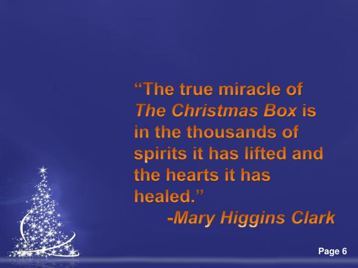 """The true miracle of"