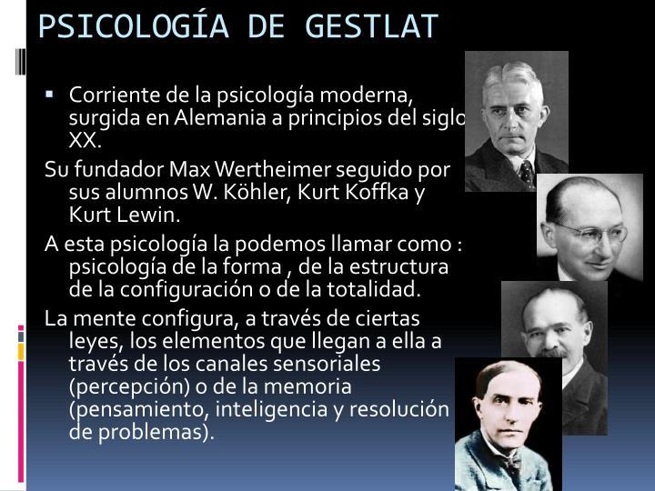 PSICOLOGÍA DE GESTLAT
