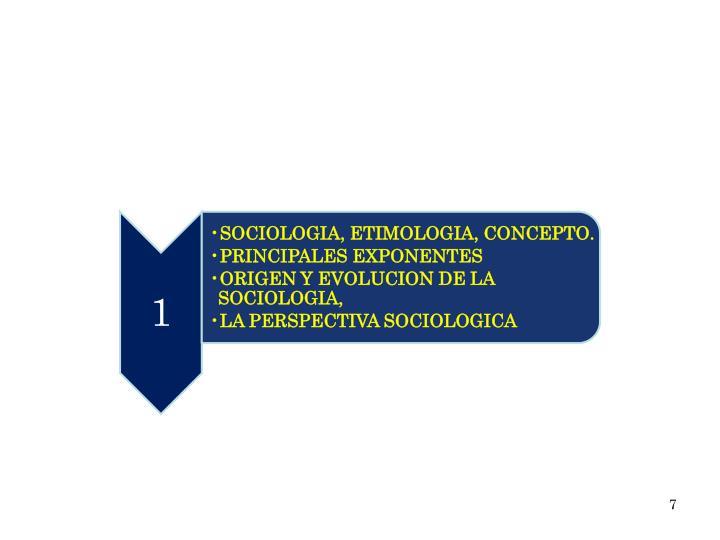 SOCIOLOGIA, ETIMOLOGIA, CONCEPTO.