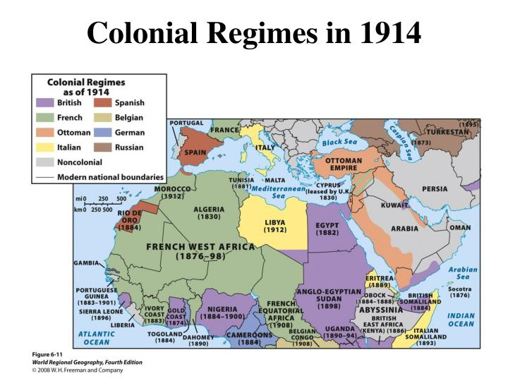 Colonial Regimes in 1914