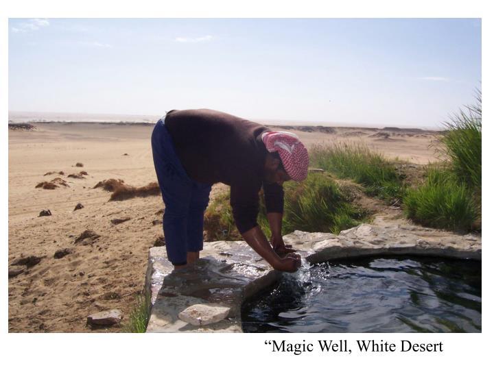 """Magic Well, White Desert"