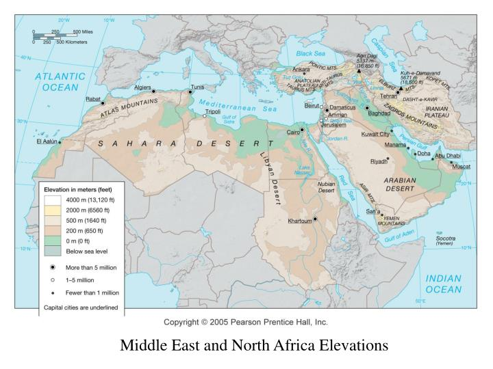Middle East and North Africa Elevations