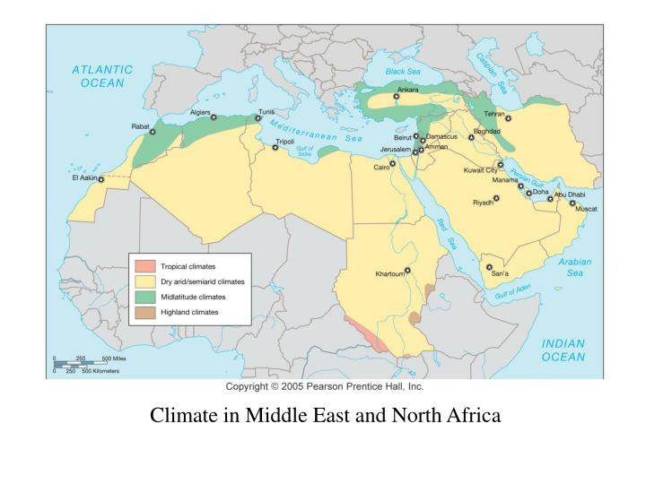 Climate in Middle East and North Africa
