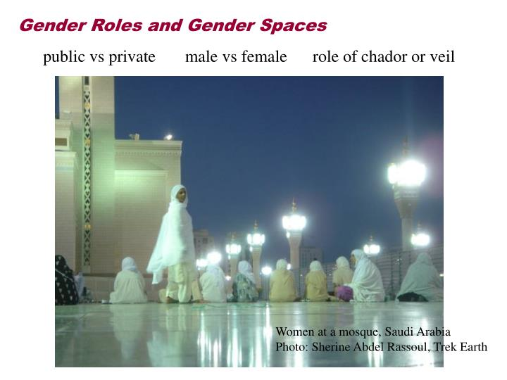 Gender Roles and Gender Spaces