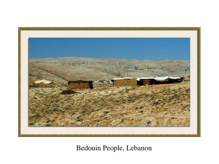 Bedouin People, Lebanon