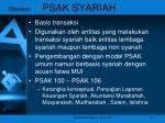 review psak syariah