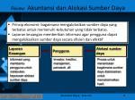 riview akuntansi dan alokasi sumber daya