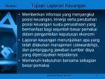 riview tujuan laporan keuangan