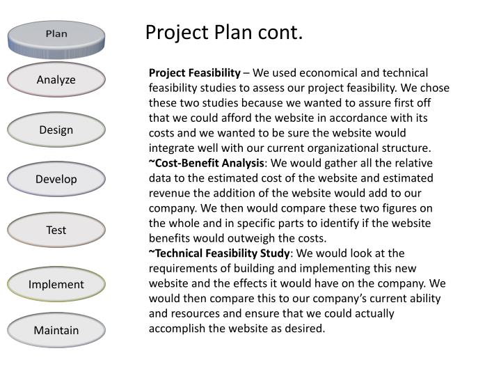 Project Plan cont.