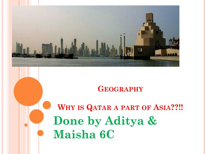 Geography why is qatar a part of asia