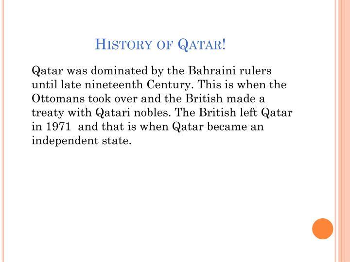 History of Qatar!