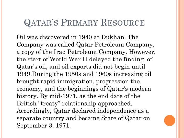Qatar's Primary Resource