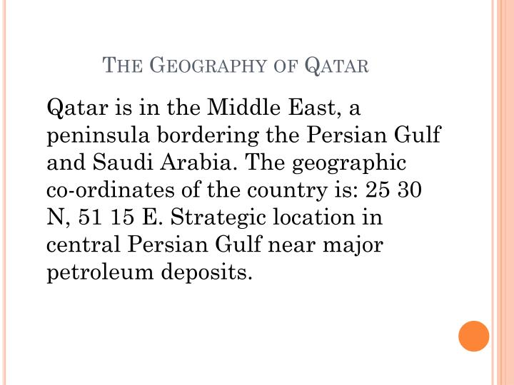 The Geography of Qatar