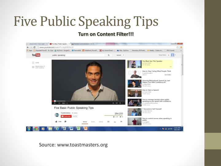 Five Public Speaking Tips