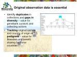 original observation data is essential