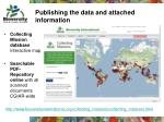 publishing the data and attached information