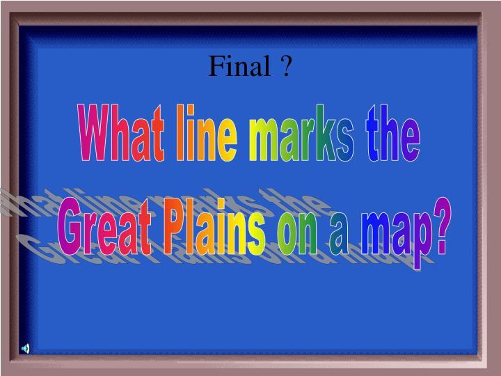 Final ?