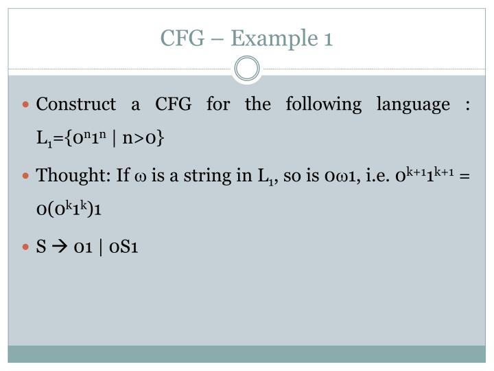 CFG – Example 1
