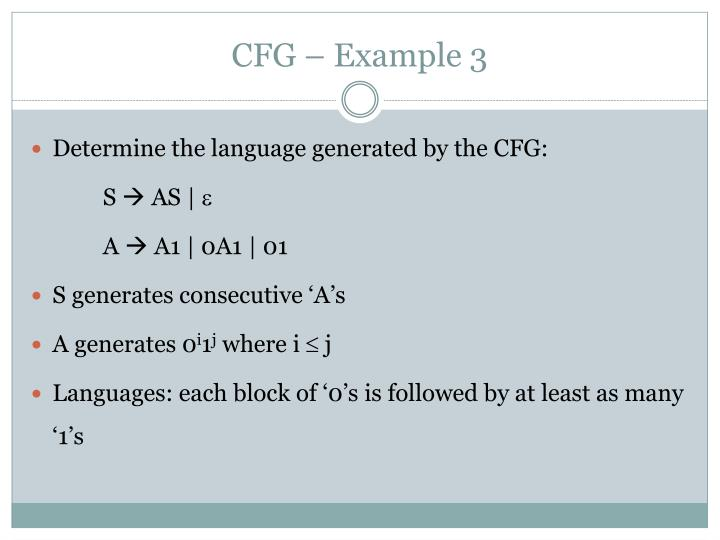 CFG – Example 3